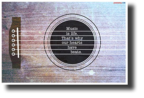 Music Is Life... - NEW Motivational Music Classroom Poster