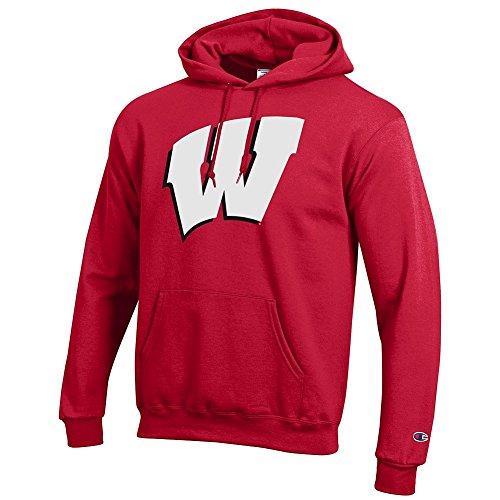 nsin Badgers Hoodie Sweatshirt Icon Cardinal - XL ()