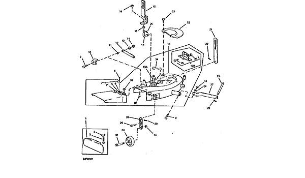 33 John Deere 38 Inch Mower Deck Parts Diagram