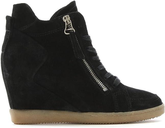 moda in pelle black trainers