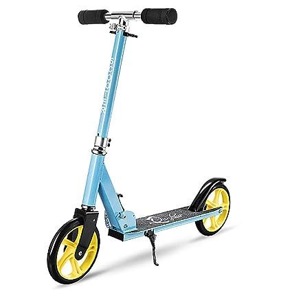 Amazon.com: CHHMAELOVE patinete con 2 ruedas grandes ...