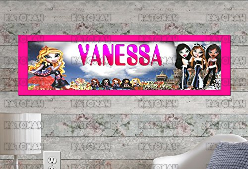 ting Bratz Poster With Your Name On It Personalized Banner With Border Mat ()