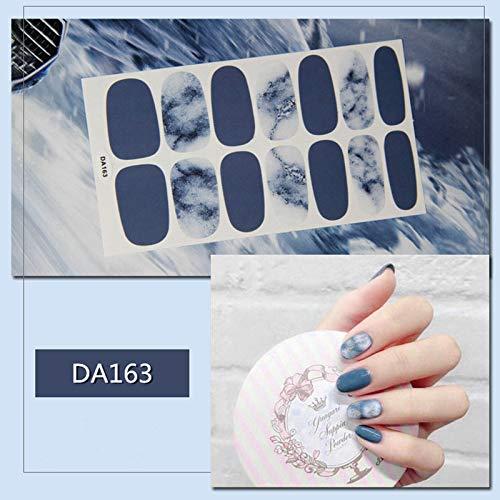 14Tips/Sheet Glitter Powder Gradient Color Sticker Nail Wraps Full Cover Polish Stickers Adhesive Decoration DA132-169 DA163]()