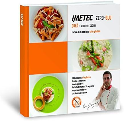 Imetec 7636 Zero Glu Cukò - Robot que cocina sin gluten, incluye libro de 130 recetas de productos sin gluten en castellano, 570 W, color blanco: Amazon.es: Hogar