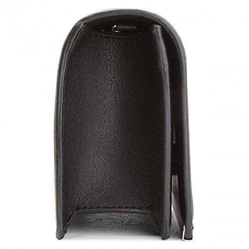 Love Moschino Borsa Nappa Pu - Shoppers y bolsos de hombro Mujer Negro (Nero+sequins Argento)