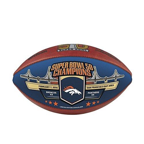 Denver Broncos Peyton Manning Super Bowl 50 Authentic Hand #