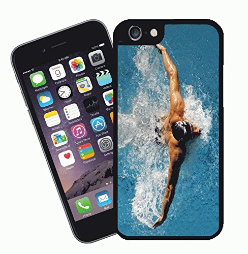 Swimming Swimmer - This cover will fit Apple model iPhone 7 (not 7 plus) - By Eclipse Gift Ideas