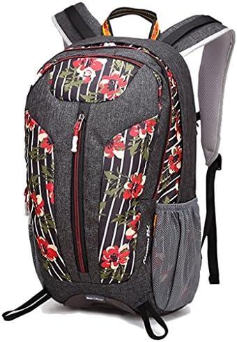 アウトドアリュックサック多機能な登山バッグ男性と女性のスポーツハイキングアウトドア旅行袋25L旅行ショルダーバッグ ( 色 : Flowers red )