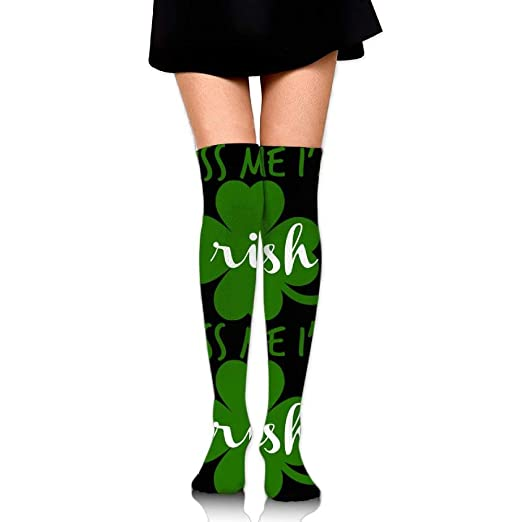 Amazon com: Kiss Me I'm Clover Over The Knee Long Socks Tube Thigh