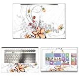 Decalrus - Protective Decal Floral Skin Sticker for HP ENVY 17M AE011DX (17.3'' Screen) case cover wrap HPenvy17_ae011dx-77