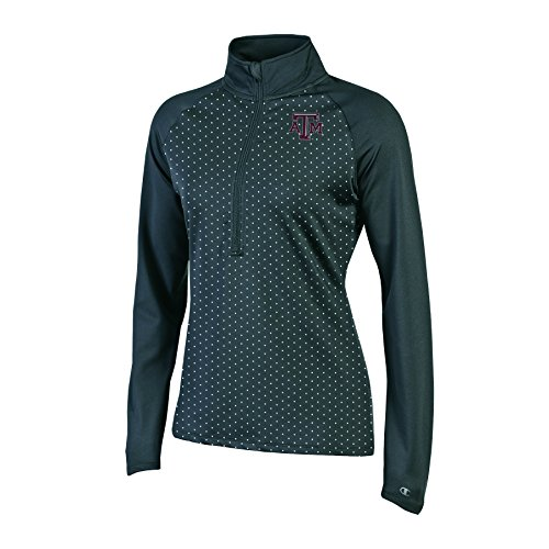 Champion NCAA Texas A&M Aggies Women's Classic Workout Half Zip Jacket, Black, Small by Champion