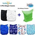 Babygoal Baby Adjustable Reuseable Covers, Baby gift sets , Cloth Diaper Cover for Fitted Diapers and Prefolds, 6pcs Cloth Diaper Cover, Baby Gift Sets for Boy 6DCF02