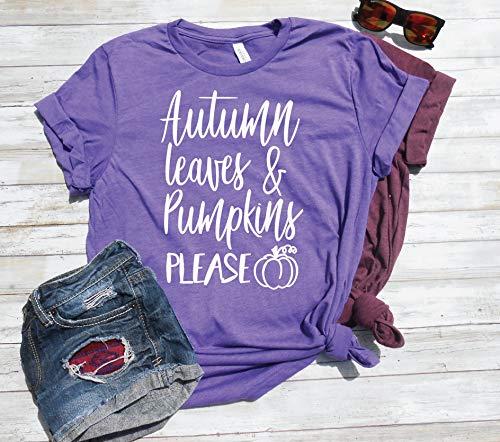 Pumpkin Shirt, Cute Pumpkin T-Shirt, Autumn Leaves & Pumpkin Please, Cute Fall Shirt, Fall Outfit, Autumn Shirt, Gift Idea -