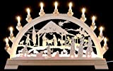 KWO of North America 62004 - 25.6'' x 15.8'' 16 Light Electric Christ's Birth German Arch