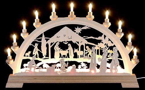 KWO of North America 62004 - 25.6'' x 15.8'' 16 Light Electric Christ's Birth German Arch by KWO of North America