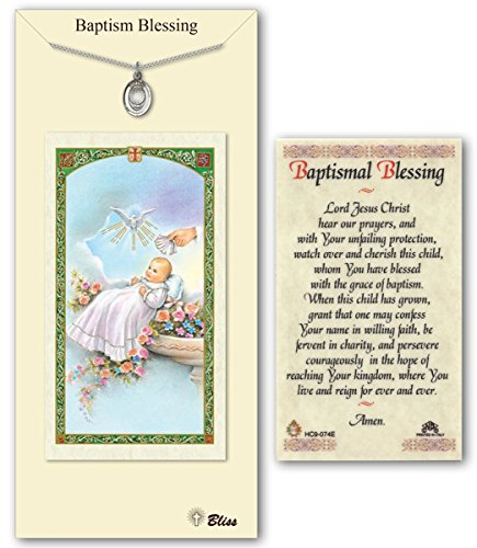 Pewter Baptism Medal with Laminated Holy Prayer Card ()