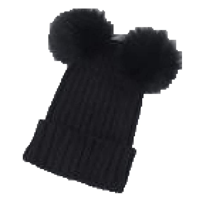 9407bf625e718 Women Winter Caps Knitted Wool Cotton Hats Skullies Beanies Bonnet Women Cap  Black