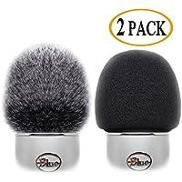 2 Pack Professional Microphone Furry Windscreen Muff Wind...