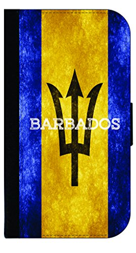 - Barbados Grunge Flag-Rosie Parker Samsung Galaxy S8 Plus /s8+ Leather and Suede Look Wallet Style Phone Case