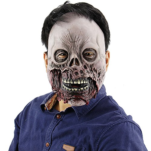 Halloween Latex Head masks Gruesome Zombie Costume Cosplay Props Ghost (Gruesome Zombie Costumes)