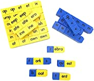 hand2mind 60019C Alphabet Linking Letter and Word Building Cubes for Early Reading (Set of 62)