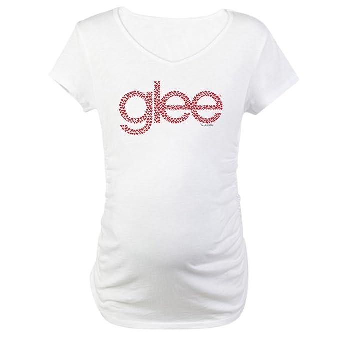 d2786dcffb1f4 CafePress Glee Tiny Hearts Cotton Maternity T-Shirt, Cute & Funny Pregnancy  Tee White
