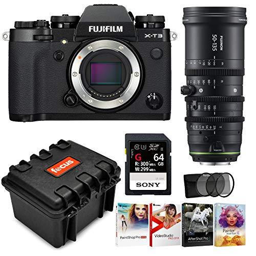 Fujifilm X-T3 Digital Camera w|MKX 50-135mm T2.9 Lens Accessory Bundle + G Series 64GB Card