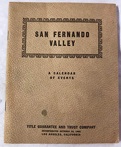 San Fernando Valley  :  A Calendar of Events in the for sale  Delivered anywhere in USA