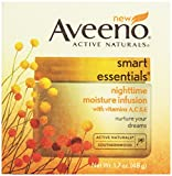 Aveeno, Facial Moisturizers Smart Essentials, Nighttime Moisture Infusion, 1.7 oz
