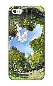 AnnaSanders Fashion Protective Park Fisheye Lens Effect Green Trees Panorama Parks Nature Other Case Cover For Iphone 5/5s