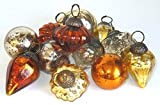 "Culturas Trading 12 Piece 1"" Mini Mercury Glass Assorted Shapes Christmas Ornaments"