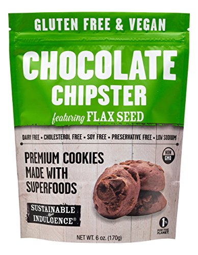 Sustainable Indulgence - Gluten Free, Vegan Cookies with Superfoods, Chocolate Chipster (Pack of 3)