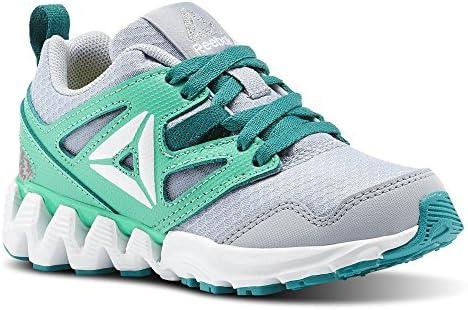 dde5a2c557 Reebok Unisex Zigkick 2K17 Sneaker, Cloud Grey/Bright Emerald, 12 M ...