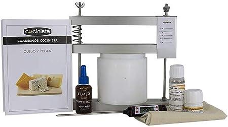 Haz tu propio queso manchego en casa,Molde y prensa para elaborar queso de unos 600g,Cultivos, cuajo