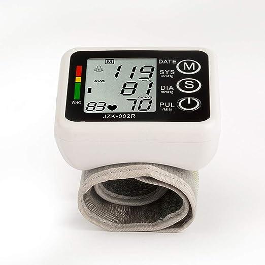 YHMMOO Tensiómetro de Muñeca con Detección de Pulso Arrítmico y Función de Voz,2 * 99 Memoria,Black: Amazon.es: Deportes y aire libre