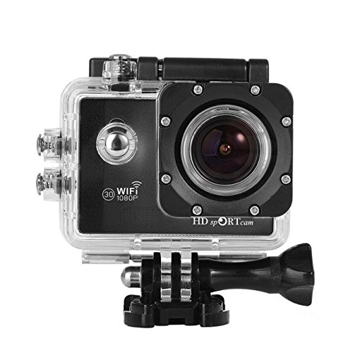 Sports Action Camera, C10S Full HD 1080p Wifi Sports Action Camera 2.0 Inch HD LCD Screen 170 Degrees Wide Angle 60M Waterproof Outdoor Camera (Mini Dv Camcorder Head Cleaner)