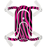 Skin For ZEROTECH Dobby Pocket Drone – Pink Zebra | MightySkins Protective, Durable, and Unique Vinyl Decal wrap cover | Easy To Apply, Remove, and Change Styles | Made in the USA
