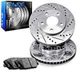 kia optima sx - For 2011-2015 Kia Optima Front eLine Drill Slot Brake Rotors+Ceramic Brake Pads