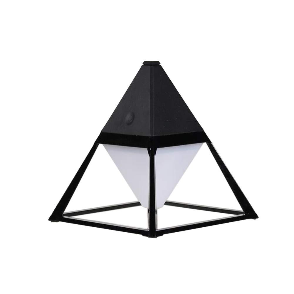 DDLONY LED Tischlampe 3 Farbmodi USB Wiederaufladbar Nachtlicht Bürolampe Arbeitslampe Outdoor