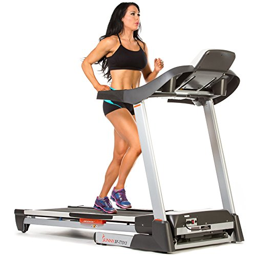 Treadmill w/ Sound System Portable Folds and Large Console Display by Sunny Health & Fitness - SF-T7513