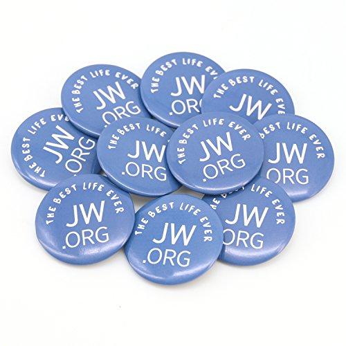 (The Best Life Ever Button JW.org Pins Round Jw.org Buttons - Best Lift Ever 1.5 Inch Button, 10 Pack)