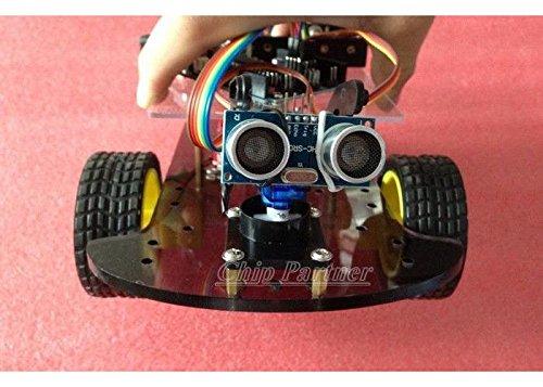 wonderfullshopHC-SR04 Ultrasonic intelligent Car Kit DIY For Arduino + tracking number