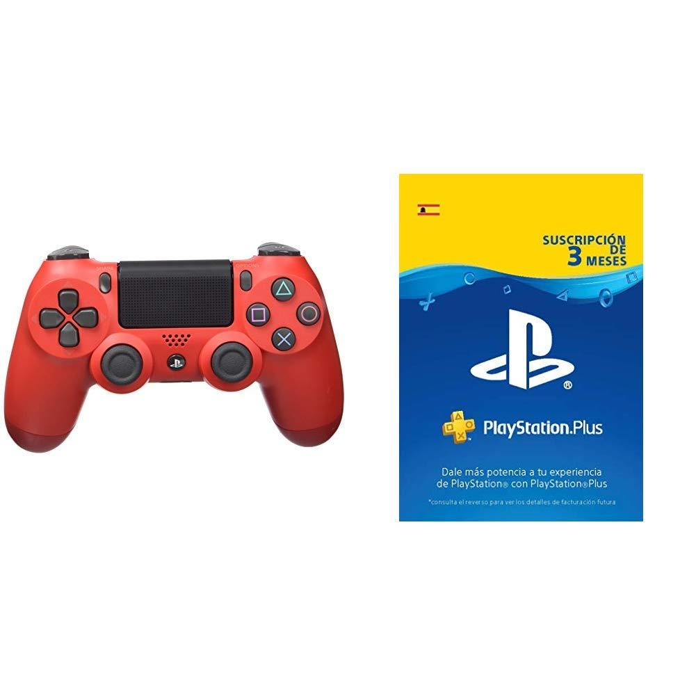 Sony - Dualshock 4 V2 Mando Inalámbrico, Color Rojo (Magma ...