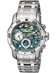 Invicta Womens Pro Diver Quartz Stainless Steel Casual Watch, Color:Silver-Toned (Model: 23163)
