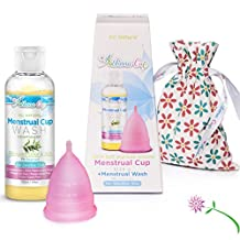 Athena Menstrual Cup - #1 Recommended Period Cup - Large Pink Cup and Menstrual Wash