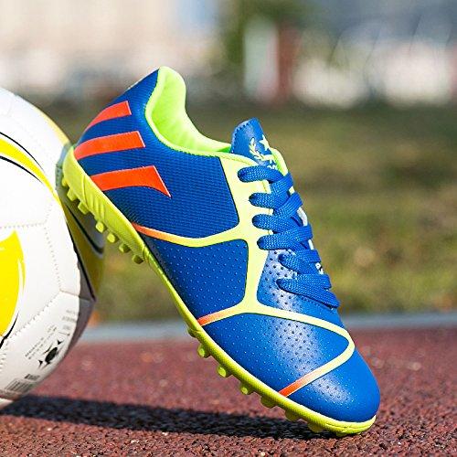 Xing Lin Fußballschuhe Neue Mädchen Fußball Schuhe Kaputt Nägel Künstliche Gras Rutschfeste Verschleiß Kleiner Hof Kinder StudentS Training Schuhe, 38 Standard Code 24 Cm, Royal Blue 701