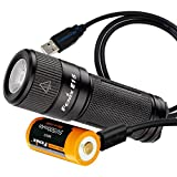 Fenix E15 450 lumens Rechargeable EDC Keychain LED Flashlight with USB Rechargeable 16340 Battery