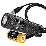 450 lumens led flashlight - Fenix E15 450 lumens Rechargeable EDC Keychain LED Flashlight with USB Rechargeable 16340 Battery