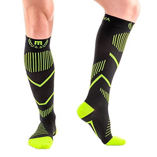 Mava Sports Compression Socks (Black & Lime, - Boots Points How To Use