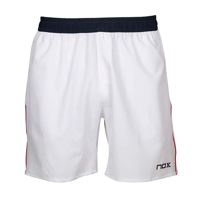 NOX Pantalon Corto Meta 10TH Anniversary Blanco: Amazon.es ...